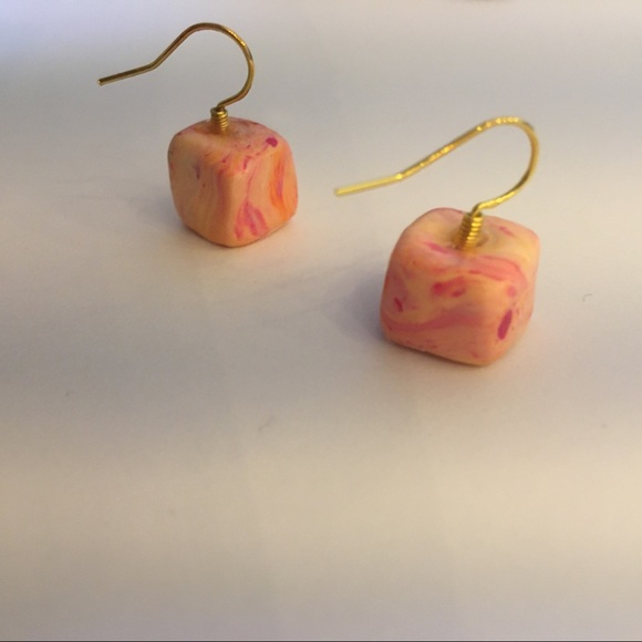 Funky cube earrings